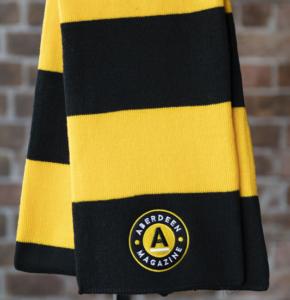 black yellow scarf